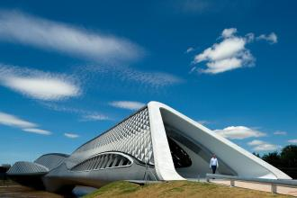 Zaragoza Bridge Pavilion. Photograph: Zaha Hadid Architects