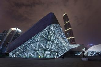 Guangzhou opera house, China. Photograph: Dan Chung for the Guardian
